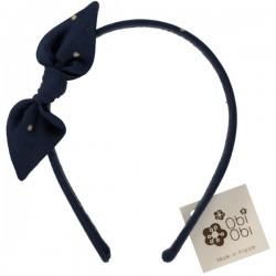 Gold Dots Naby Bow Headband