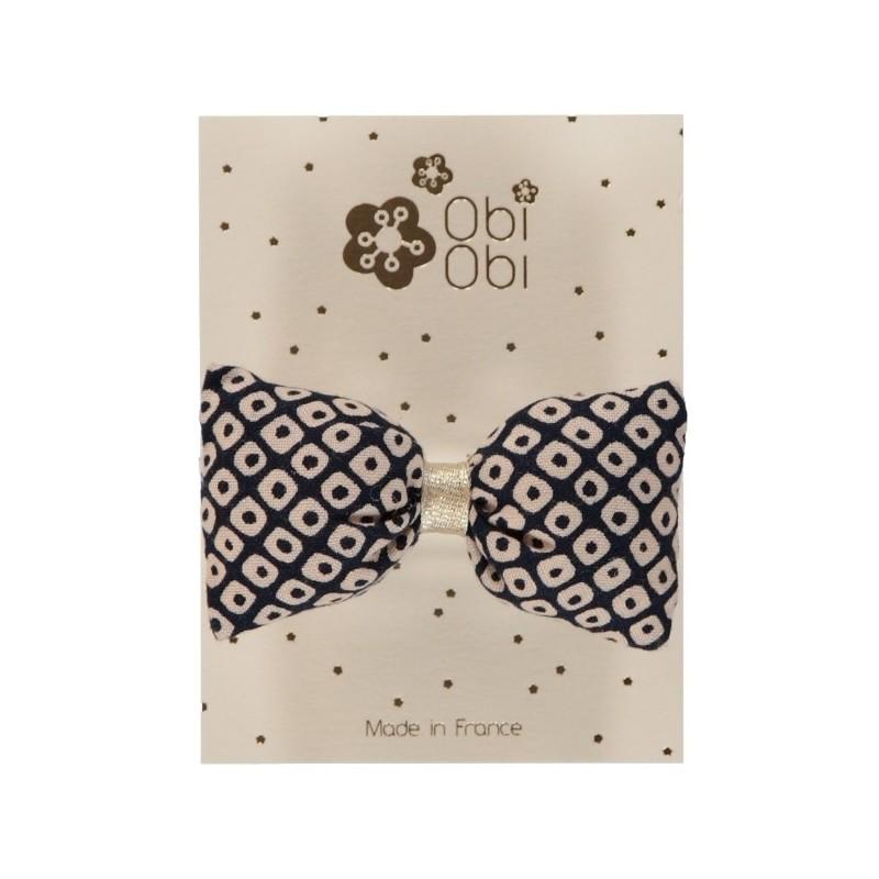 Bonbon Hair clip - Duval White Silver Dots