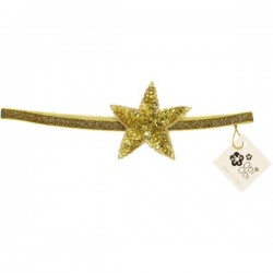Gold Sequin Star Elastic Headbands