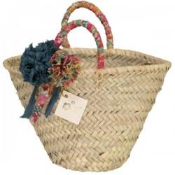 Margaret Annie Liberty Pom Straw Bag