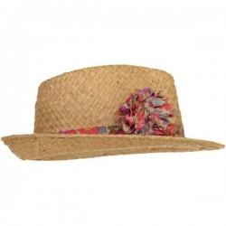 Fluo Thé Liberty Pom Straw Hat