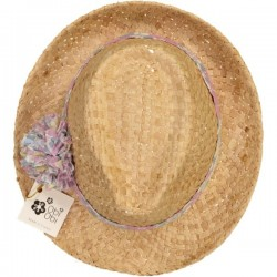 Betsy Roe Givré Liberty Pom Straw Hat