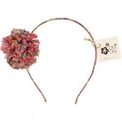 Liberty Maxi Pom Fluo Thé Headband