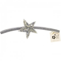 Silver Sequin Star Elastic Headband