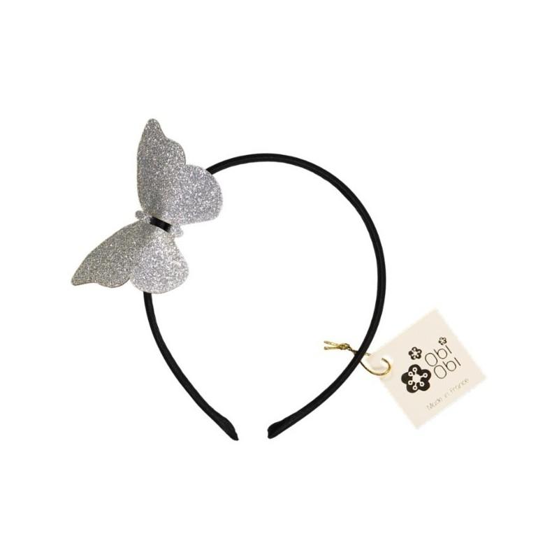 Serre-tête Papillon Argent