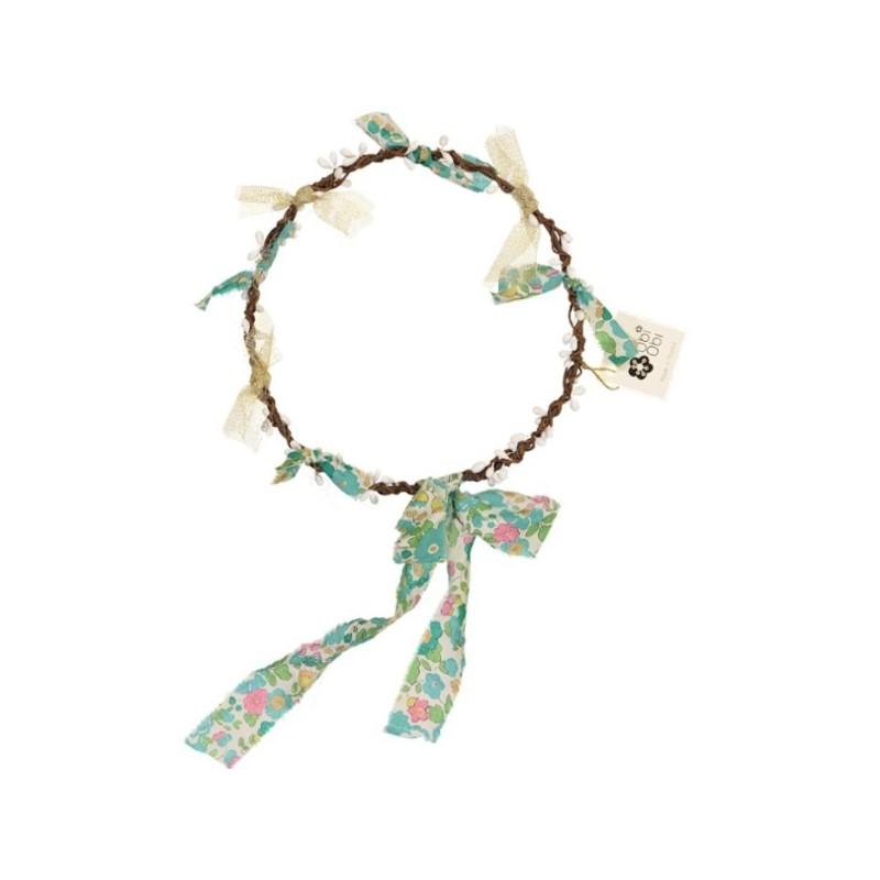 Green Liberty flower Crown