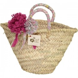 Betsy Rose Givré Liberty Pom Straw Bag