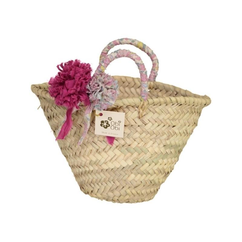 Betsy Rose Givré Liberty Pom Straw Bag