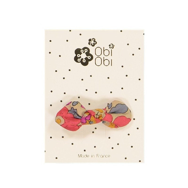 Child Bow Hair clip - Liberty Fluo The