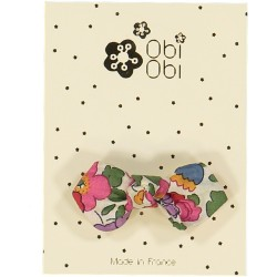 Lot de 12 Barrettes Noeud Liberty. Mix 3 couleurs.