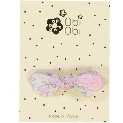 Barrette Noeud Liberty Rose Buvard