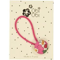 Fuschia Pink Maxi Button Liberty Hair Band
