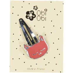 Barrette Chat Email Corail