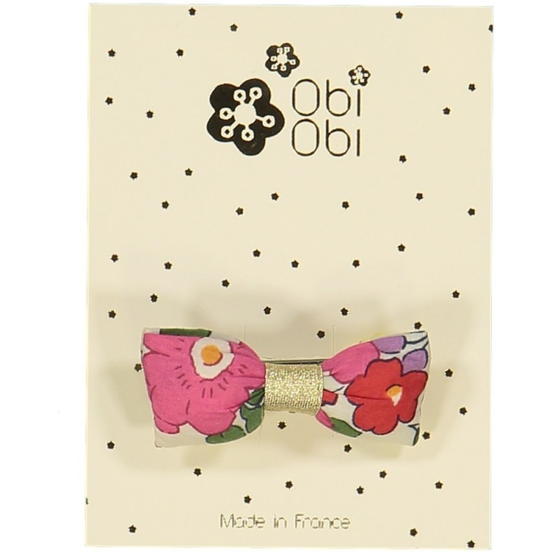 Barrette Mini Bonbon Liberty Fuschia