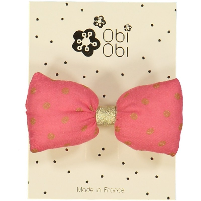 Coral Pink Mini Bonbon Dots Hairclip