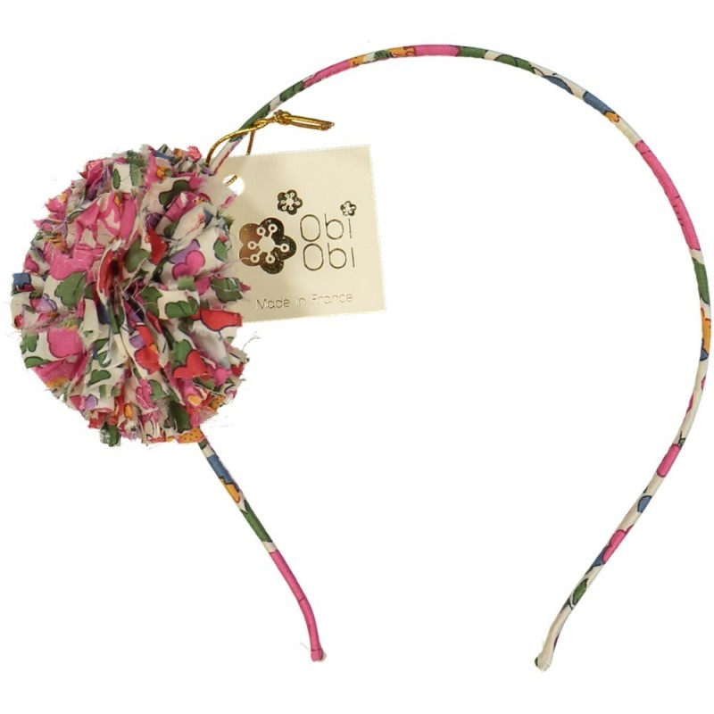 Candy Pink Maxi Pom Liberty Headband