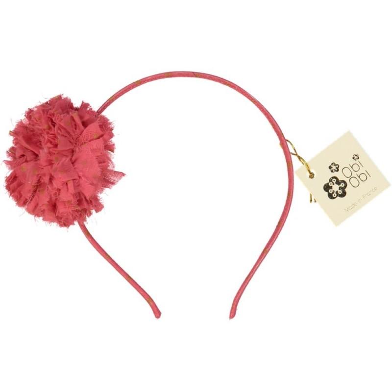Coral Pink Maxi Pom Dots Headband