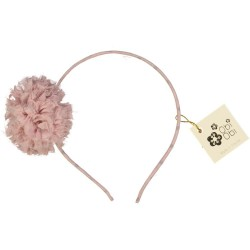 Candy Pink Maxi Pom Dots Headband