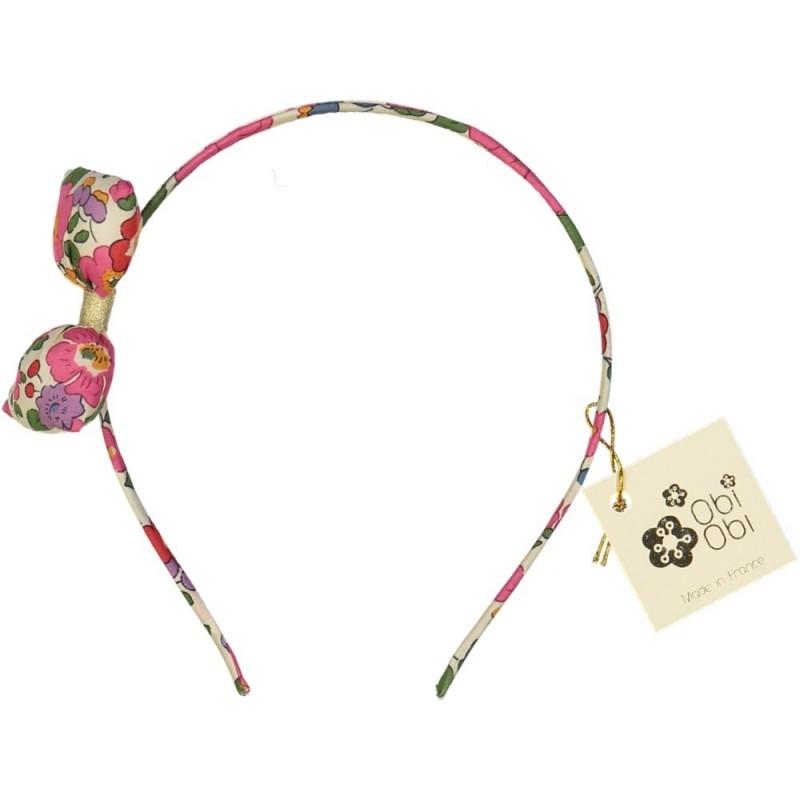 Serre-tête nœud Bonbon Liberty Fuschia