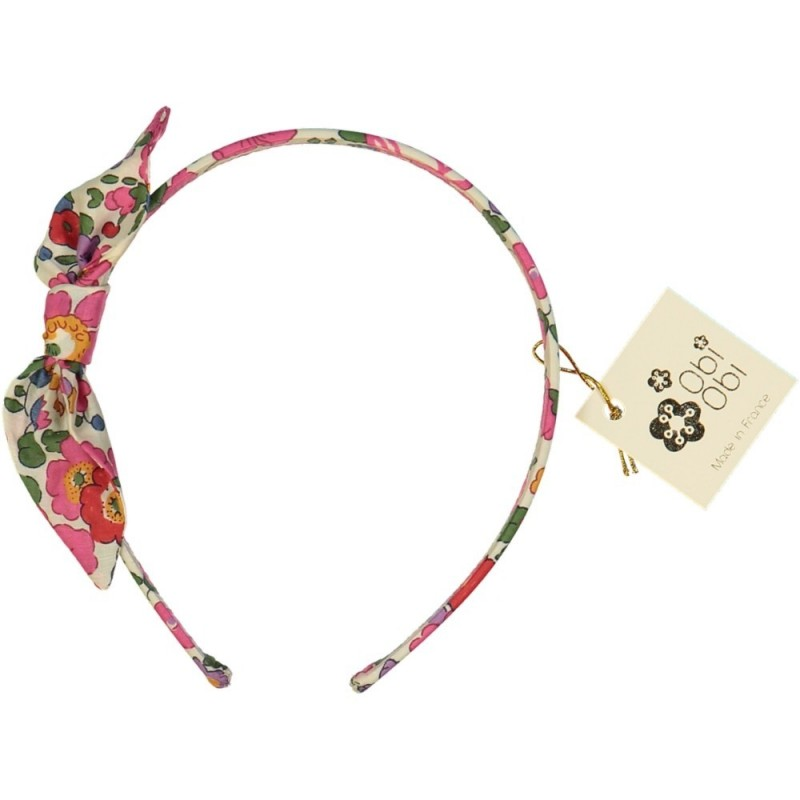 Fuschia Pink Liberty Bow Headband