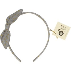 Pearl Grey Dots Bow Headband