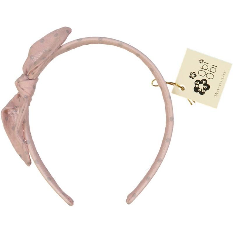Candy Pink Dots Bow Headband