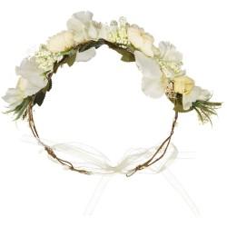 Couronne Fleurs Blanches de mariage