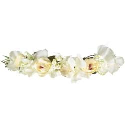 Couronne Fleurs Blanches artificielles