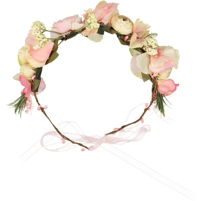 Couronne Fleurs Roses Mariage