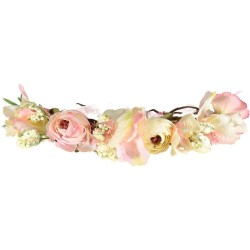 Flower crown wedding pink