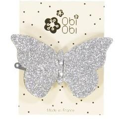 Barrette Papillon Argent