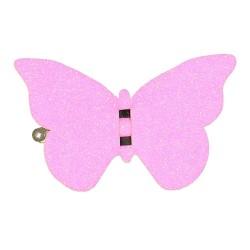 Barrette Papillon Rose Fluo