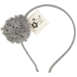 Grey Maxi Pom Dots Headband