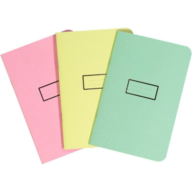 Lot de 12 carnets - mix 3 couleurs