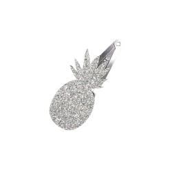 Silver Pineapple Hair Clip