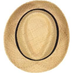 Chapeau de Paille Bleu nuit rayée
