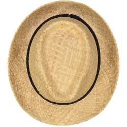 Chapeau de Paille Bleu Nuit Losanges
