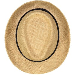 Dark Blue Diamonds Straw Hat