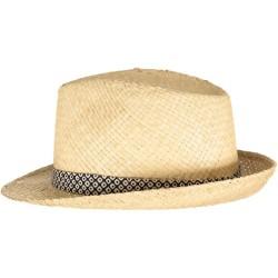 Dark Blue Small Diamonds Straw Hat