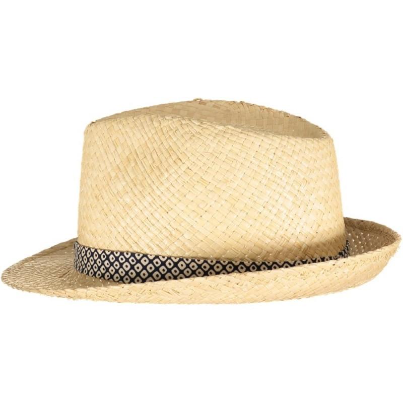 Chapeau de Paille Bleu Nuit Mini Losanges