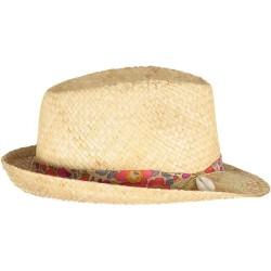 Chapeau de Paille Fluo Thé et Coquillage