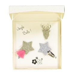 Christmas gift set Fawn fox wolf brooches