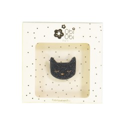 Broche chat noir
