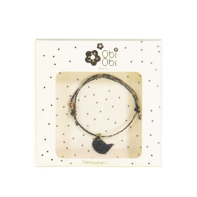 bracelet chat noir femme