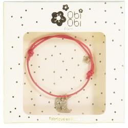 bracelet chat doré