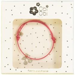 Bracelet rouge cerise