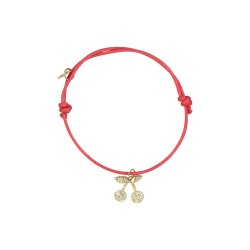 cherries charm red bracelet