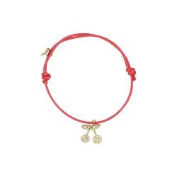 Bracelet cerise or