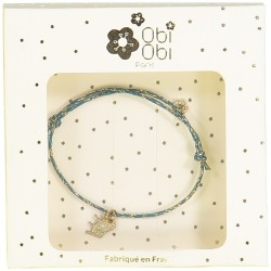 bracelet pampille couronne