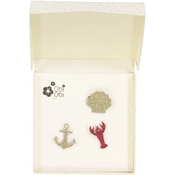 Brooches shell lobster anchor